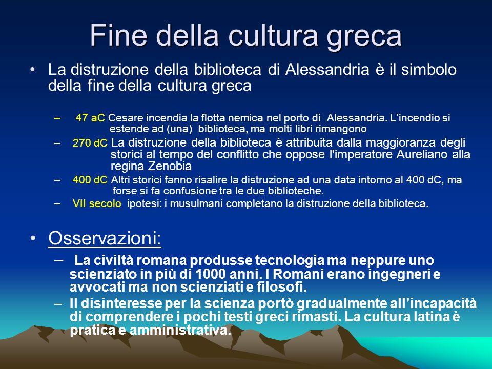 Fine della cultura greca