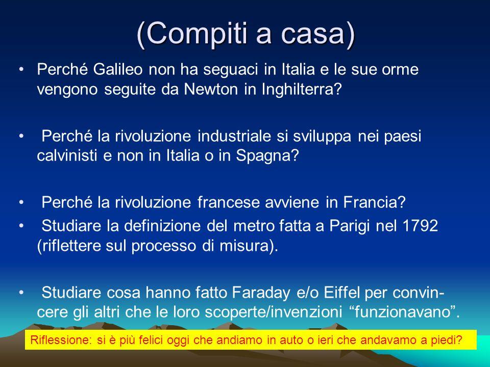 (Compiti a casa) Perché Galileo non ha seguaci in Italia e le sue orme vengono seguite da Newton in Inghilterra