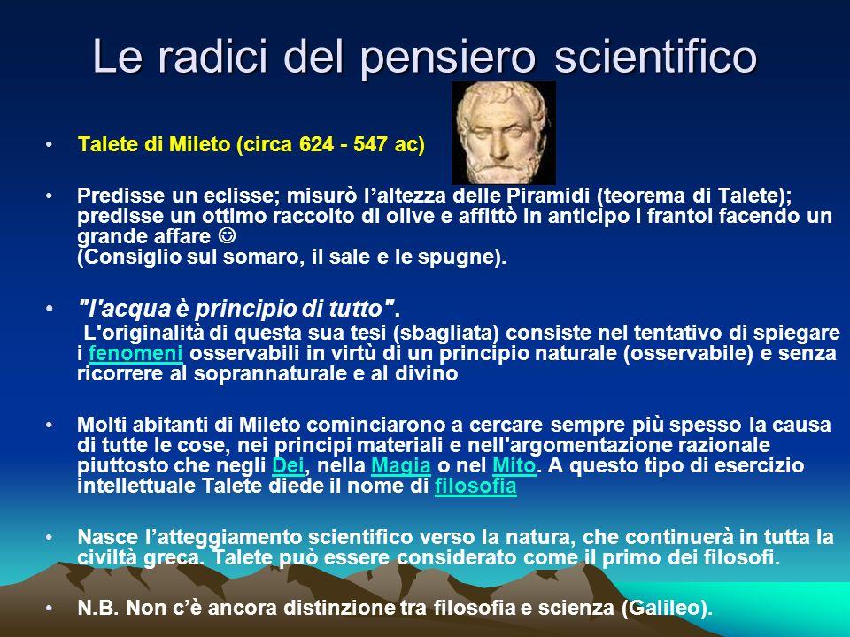 Le radici del pensiero scientifico