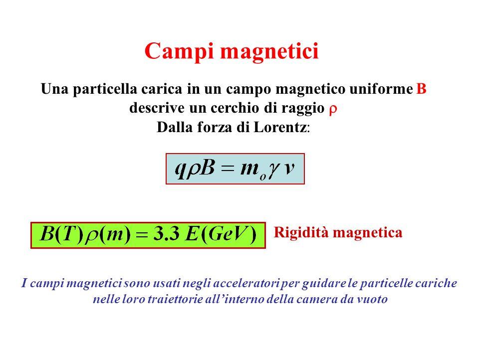 Campi magnetici Una particella carica in un campo magnetico uniforme B