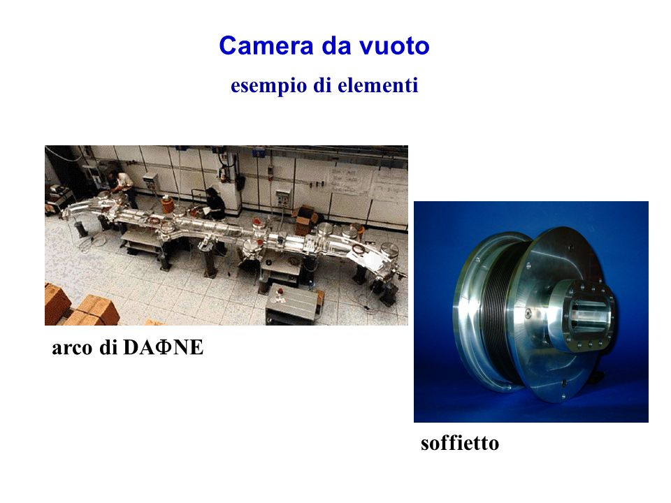 Camera da vuoto esempio di elementi arco di DAFNE soffietto