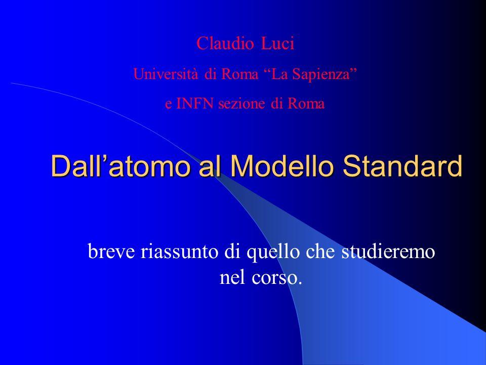 Dall'atomo al Modello Standard