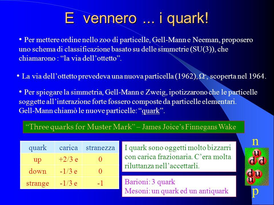 E vennero ... i quark!