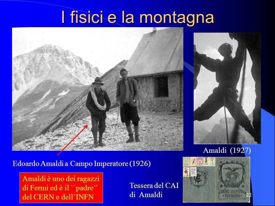 I fisici e la montagna Amaldi (1927)
