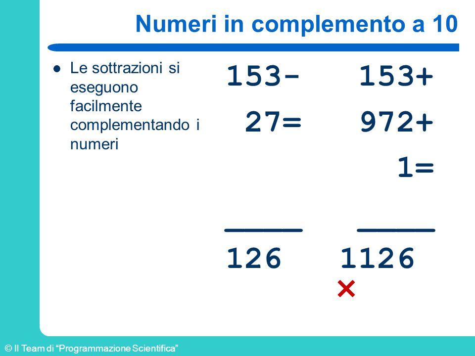 Numeri in complemento a 10