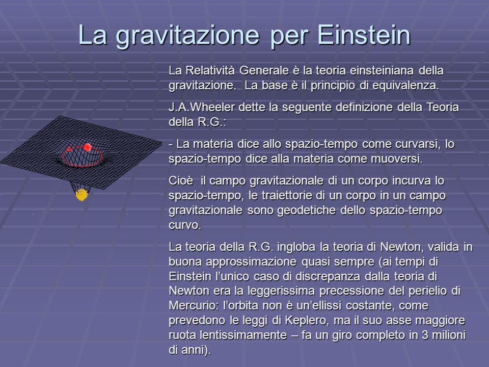 La gravitazione per Einstein