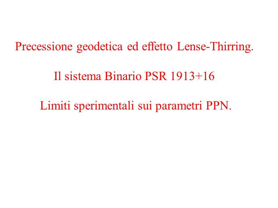 Precessione geodetica ed effetto Lense-Thirring.