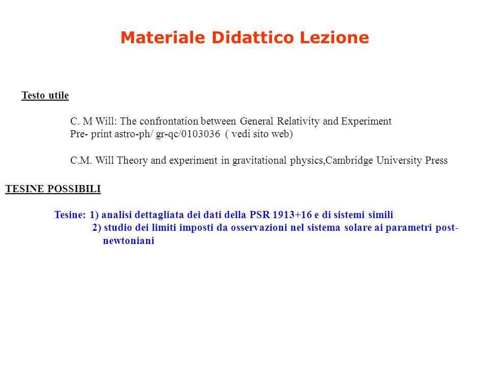 Materiale Didattico Lezione