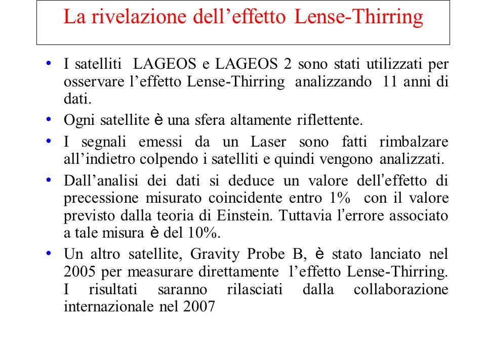 La rivelazione dell'effetto Lense-Thirring
