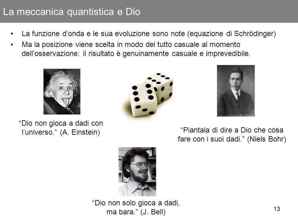 La meccanica quantistica e Dio