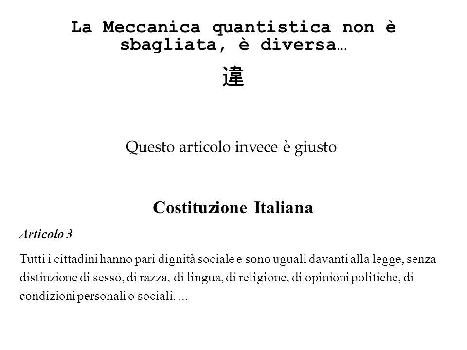 違 La Meccanica quantistica non è sbagliata, è diversa…