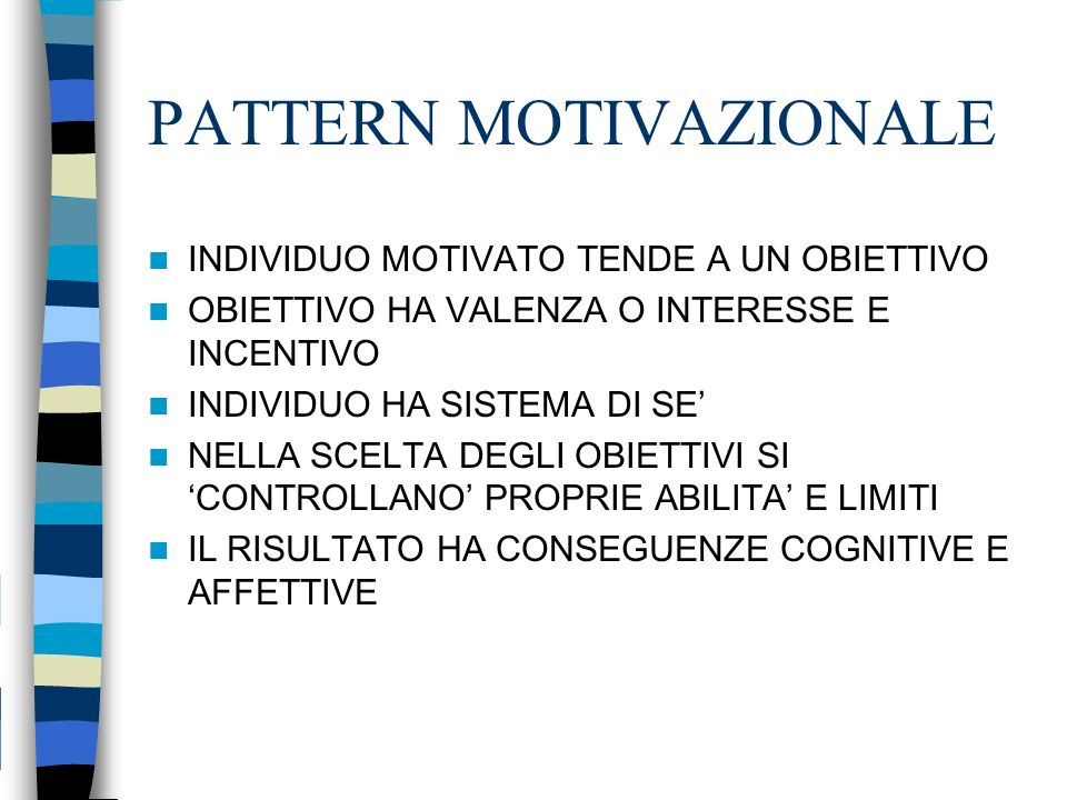 PATTERN MOTIVAZIONALE