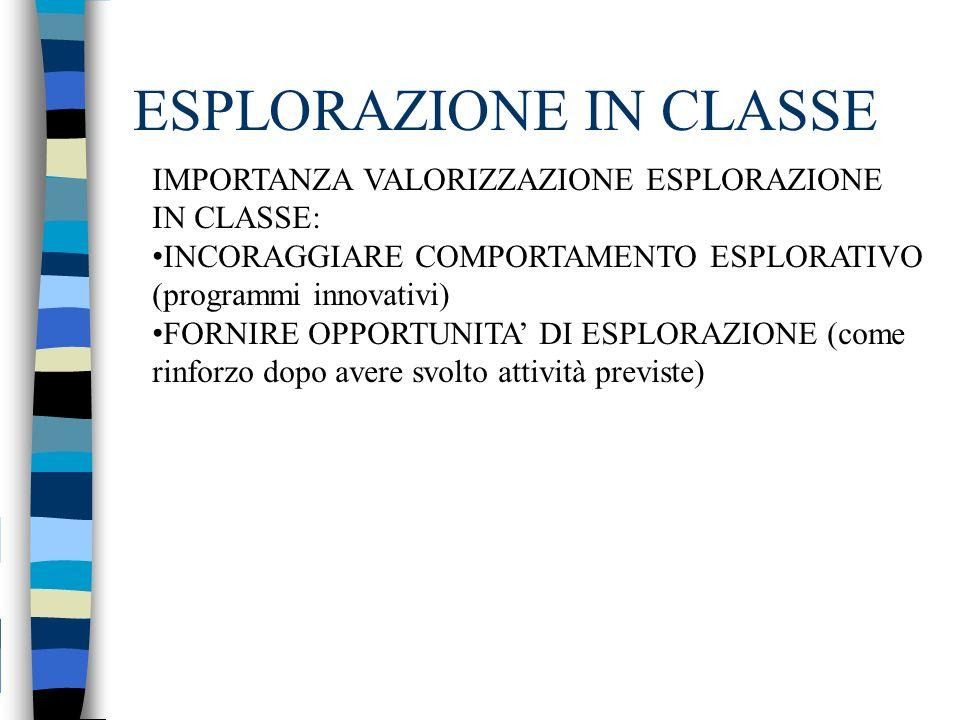 ESPLORAZIONE IN CLASSE