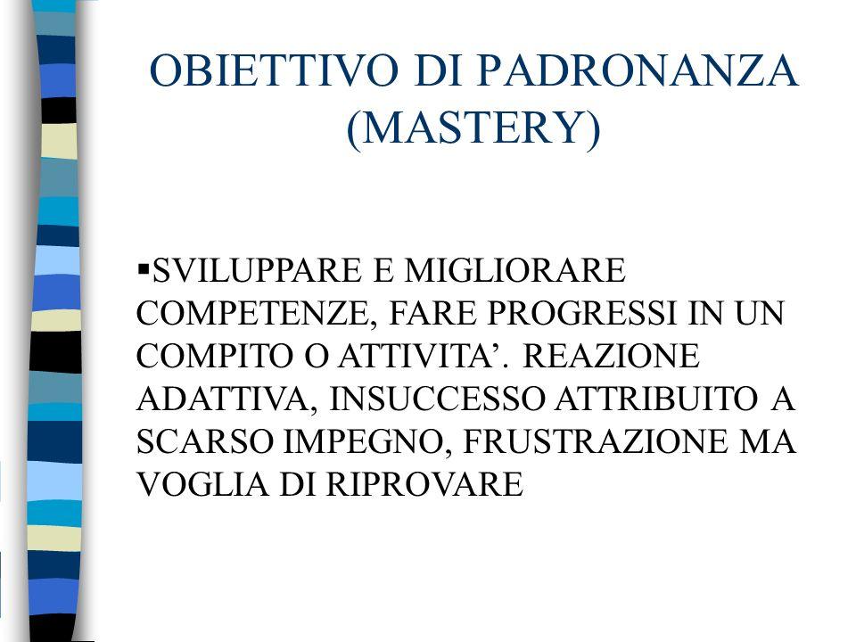 OBIETTIVO DI PADRONANZA (MASTERY)