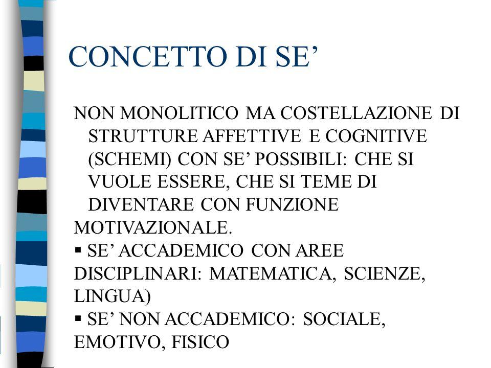 CONCETTO DI SE' NON MONOLITICO MA COSTELLAZIONE DI