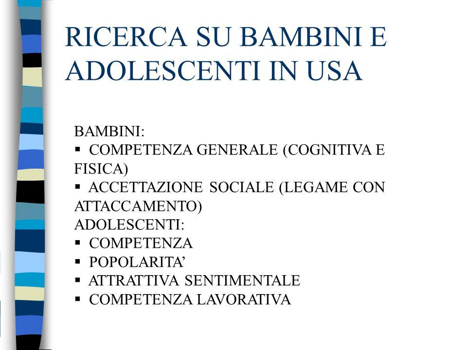 RICERCA SU BAMBINI E ADOLESCENTI IN USA