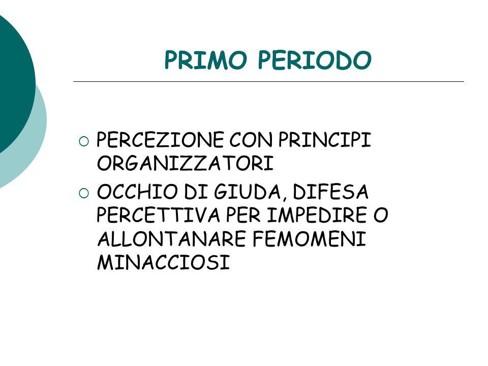 PRIMO PERIODO PERCEZIONE CON PRINCIPI ORGANIZZATORI