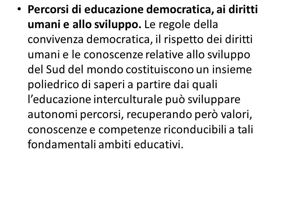 Percorsi di educazione democratica, ai diritti umani e allo sviluppo