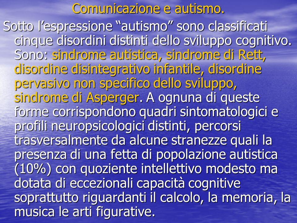 Comunicazione e autismo.