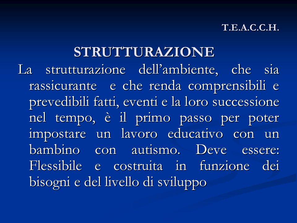 T.E.A.C.C.H. STRUTTURAZIONE.