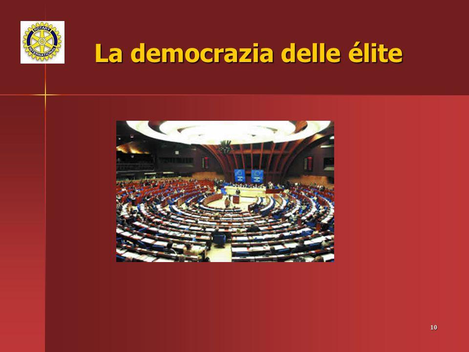 La democrazia delle élite