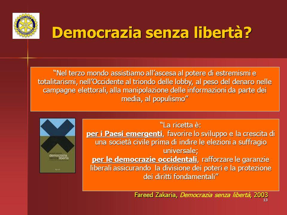 Democrazia senza libertà