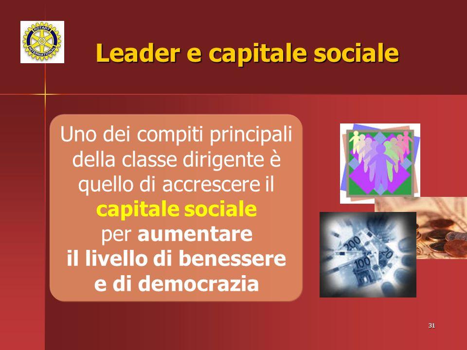 Leader e capitale sociale