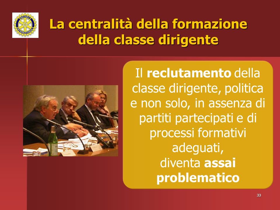 La centralità della formazione della classe dirigente