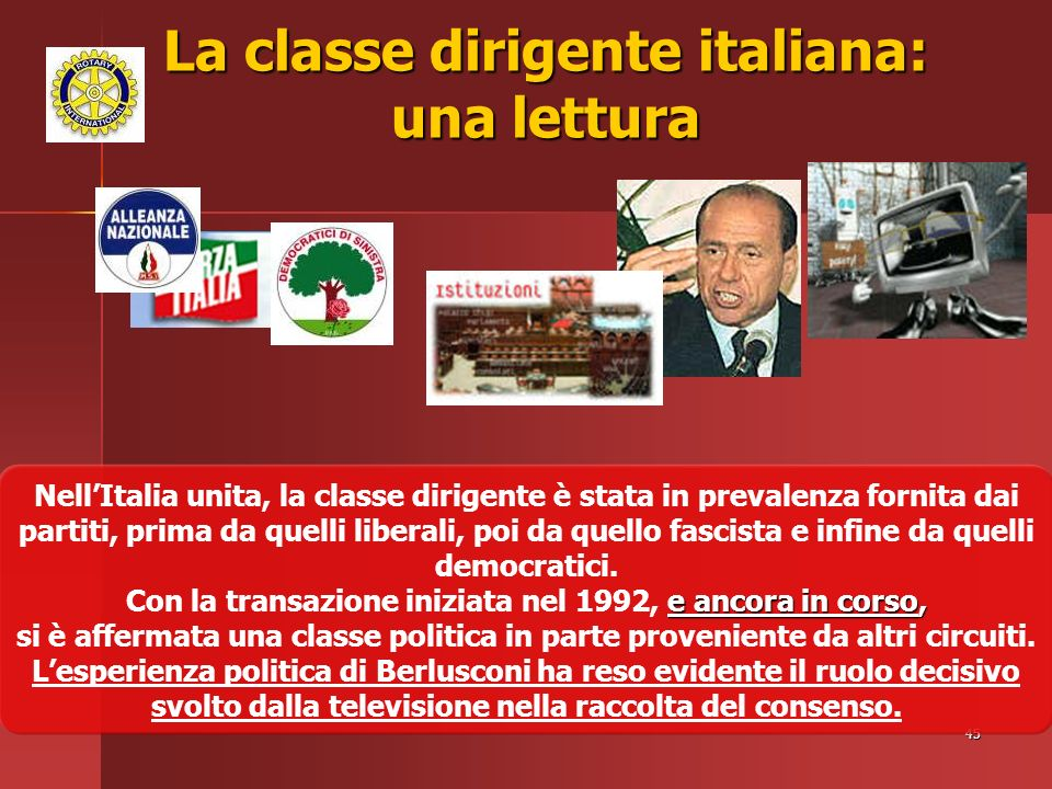 La classe dirigente italiana: una lettura