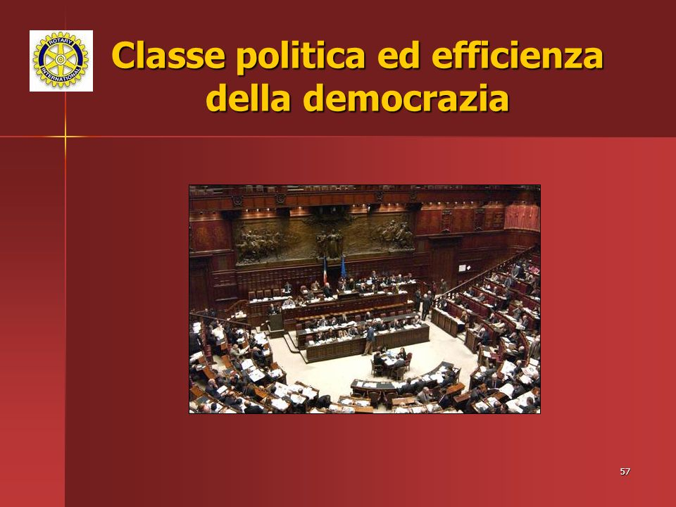 Classe politica ed efficienza della democrazia