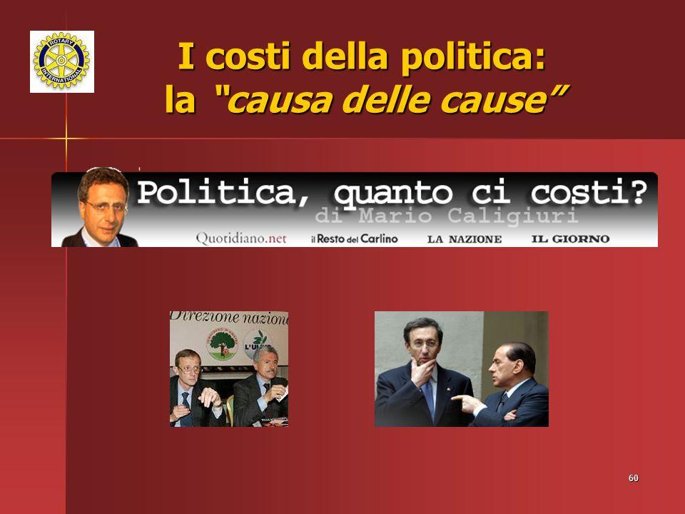 I costi della politica: la causa delle cause
