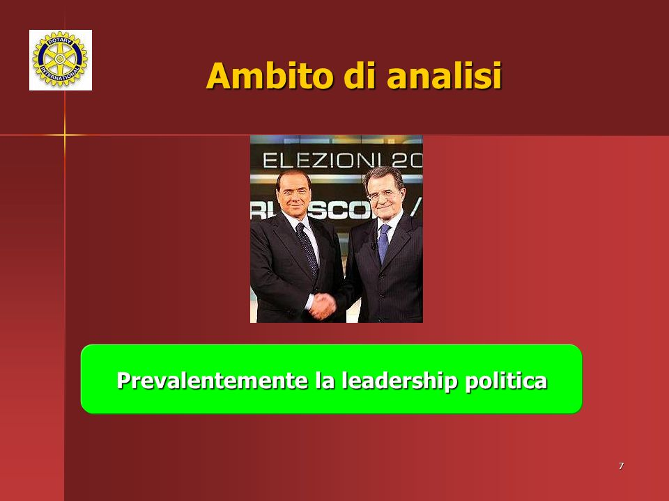 Prevalentemente la leadership politica