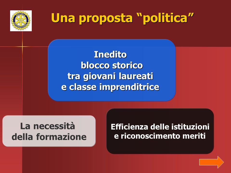 Una proposta politica