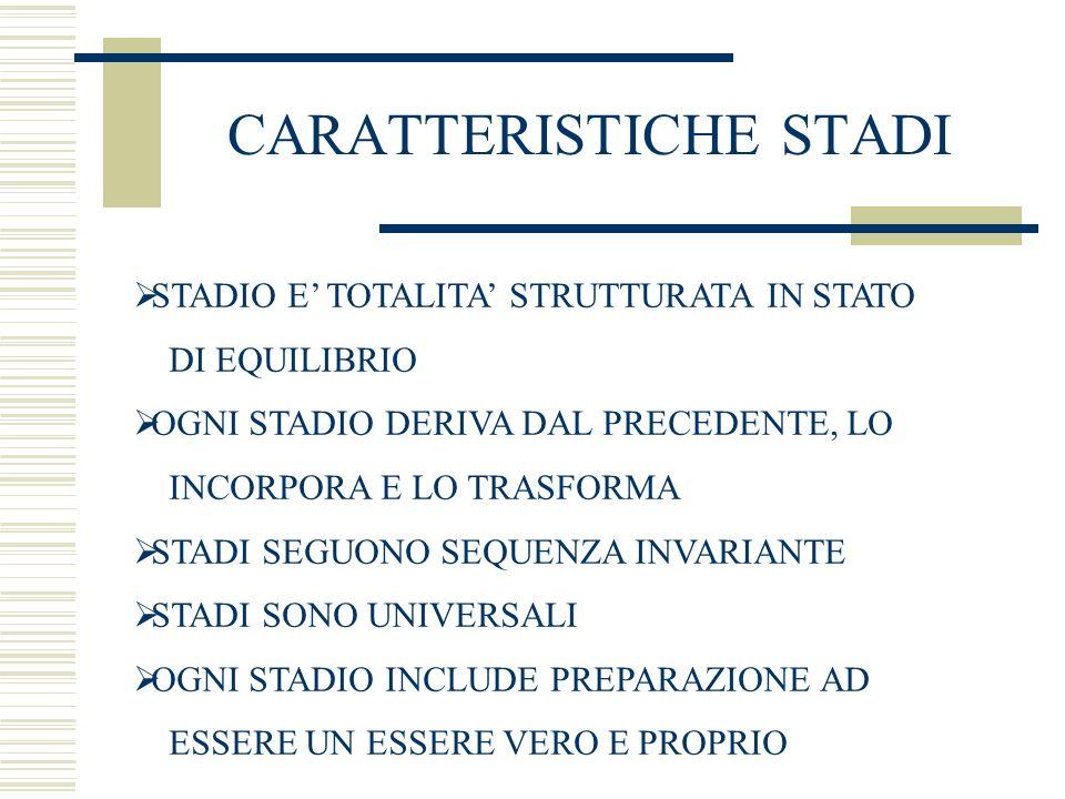 CARATTERISTICHE STADI