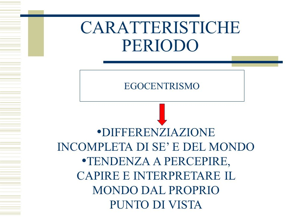 CARATTERISTICHE PERIODO
