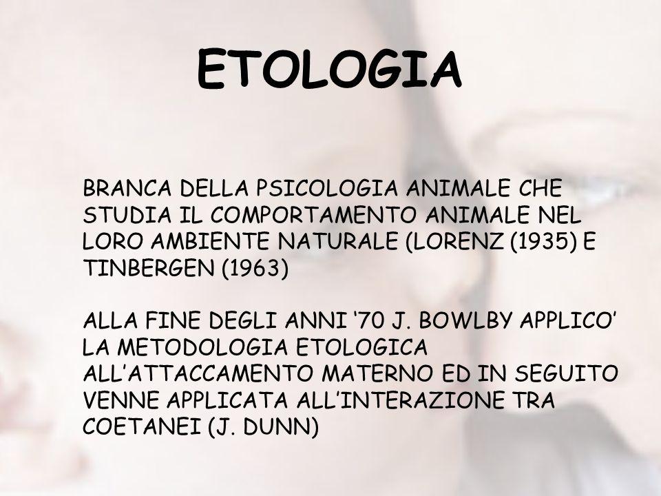 ETOLOGIA BRANCA DELLA PSICOLOGIA ANIMALE CHE STUDIA IL COMPORTAMENTO ANIMALE NEL LORO AMBIENTE NATURALE (LORENZ (1935) E TINBERGEN (1963)