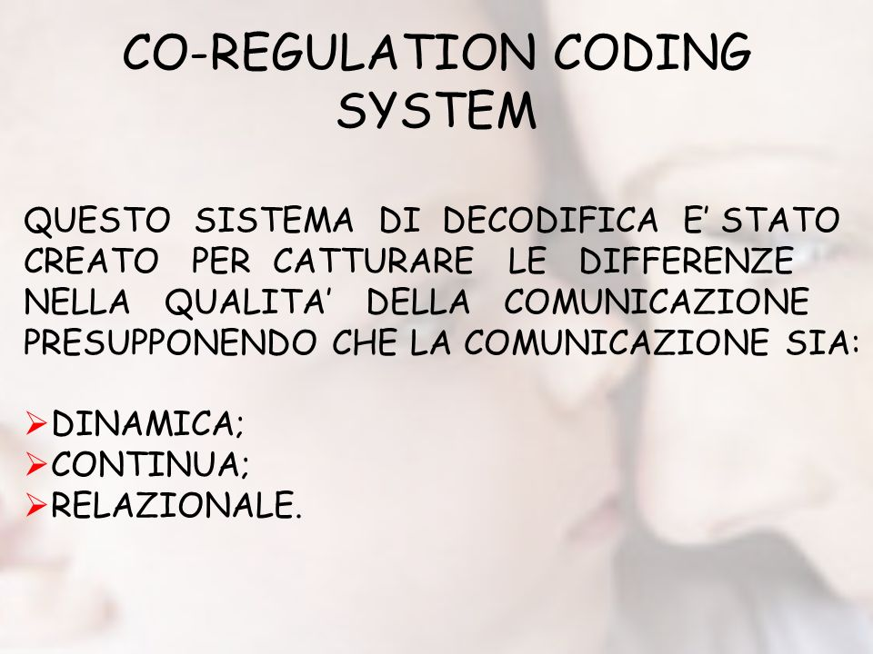 CO-REGULATION CODING SYSTEM