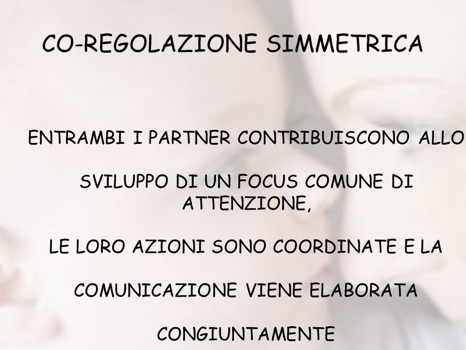 CO-REGOLAZIONE SIMMETRICA
