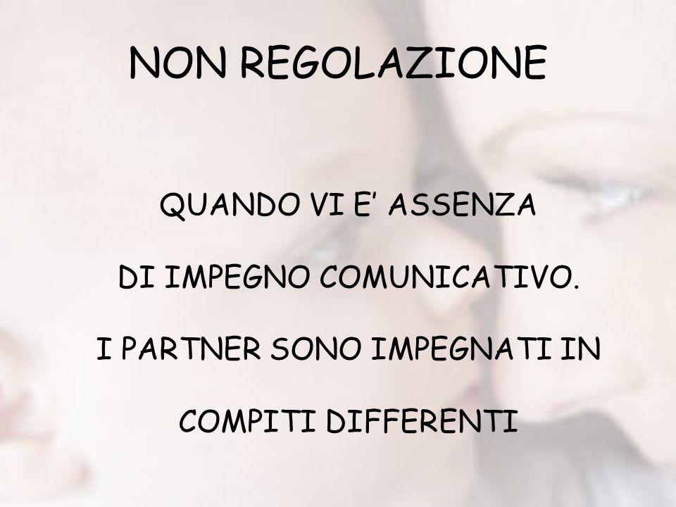 NON REGOLAZIONE QUANDO VI E' ASSENZA DI IMPEGNO COMUNICATIVO.