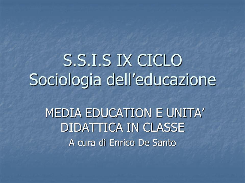 S.S.I.S IX CICLO Sociologia dell'educazione