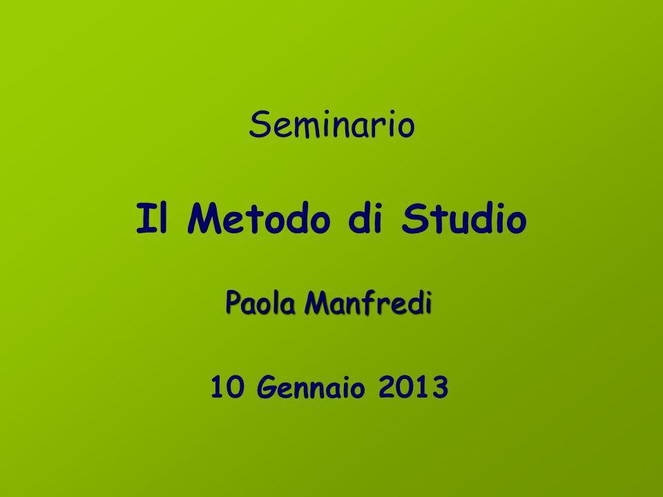 Seminario Il Metodo di Studio