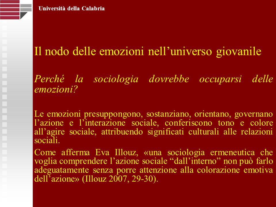 Il nodo delle emozioni nell'universo giovanile