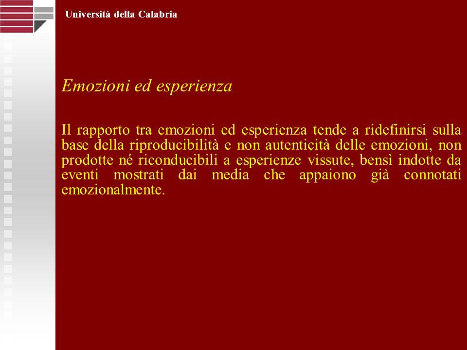 Emozioni ed esperienza