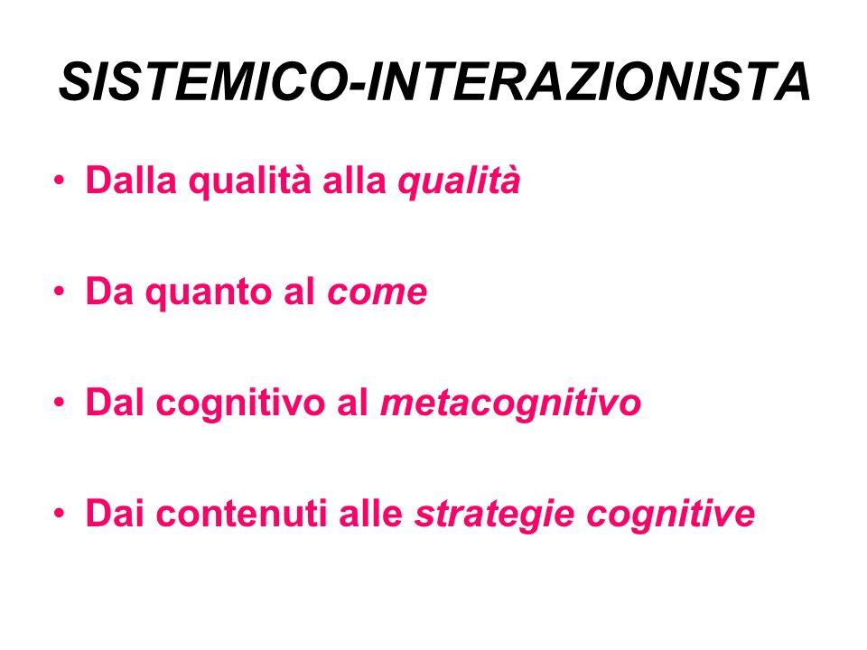 SISTEMICO-INTERAZIONISTA