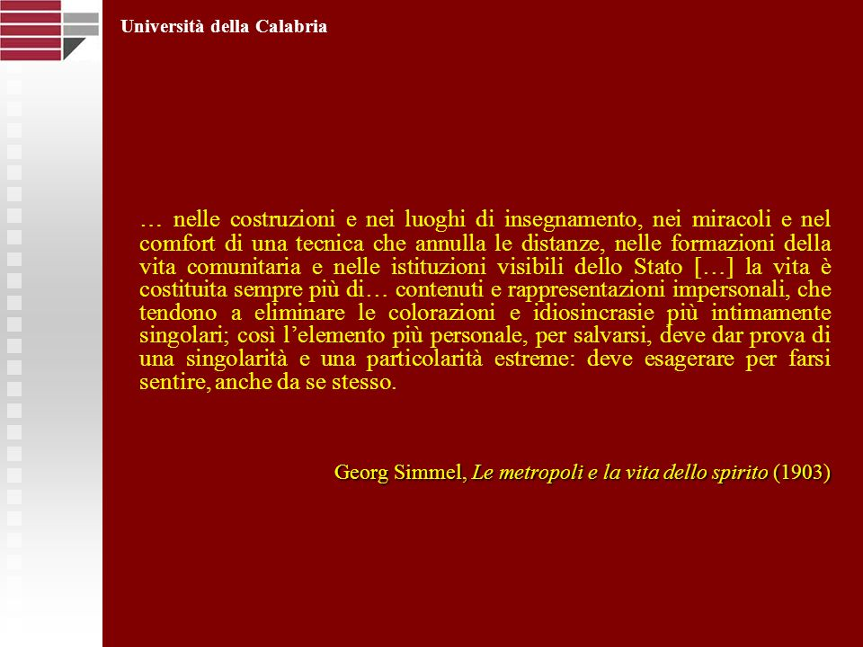 Georg Simmel, Le metropoli e la vita dello spirito (1903)