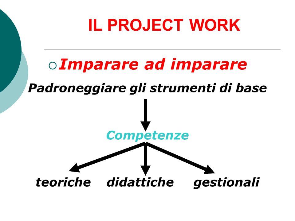 Padroneggiare gli strumenti di base teoriche didattiche gestionali