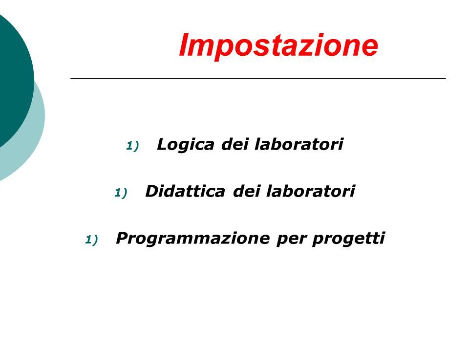 Didattica dei laboratori Programmazione per progetti