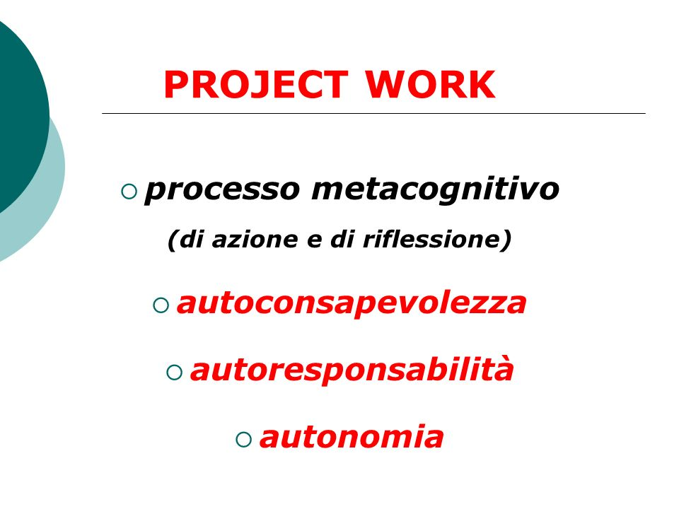processo metacognitivo (di azione e di riflessione)