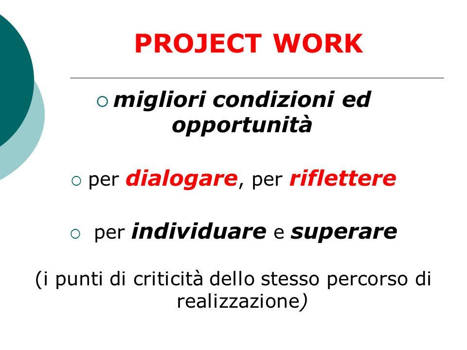PROJECT WORK migliori condizioni ed opportunità