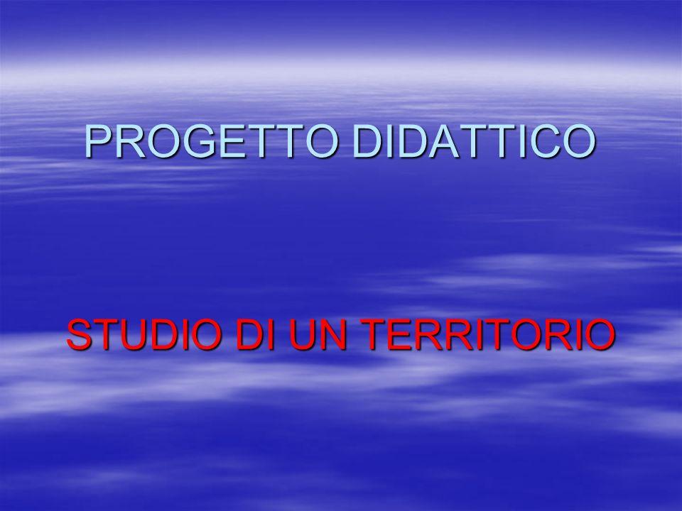 STUDIO DI UN TERRITORIO